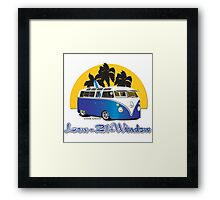 Low 21 Window Splitty Framed Print