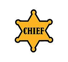 Chief sheriff star Photographic Print