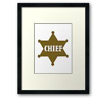 Golden chief star Framed Print