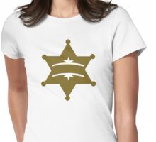 Sheriff star Womens Fitted T-Shirt