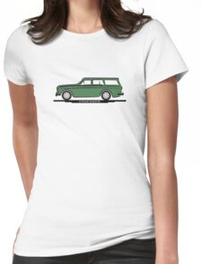 Volvo Amazon Station Wagon Kombi Green for White Shirts Womens Fitted T-Shirt
