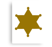 Golden sheriff star Canvas Print