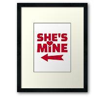 She's mine Framed Print