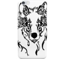 Beautiful Alpha Tribal Wolf iPhone Case/Skin