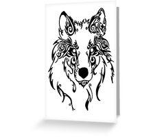 Beautiful Alpha Tribal Wolf Greeting Card