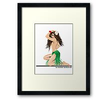 Hula Girl Framed Print
