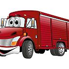 Red  Beverage Truck Cartoon by Graphxpro