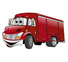 Red  Beverage Truck Cartoon Photographic Print