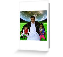 Great Father Idrees & The Future Generations of the Pakistani Starfleet Greeting Card