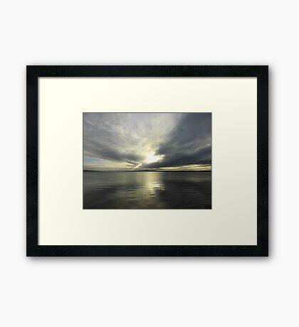 Where Water And Sky Meet................Ireland Framed Print
