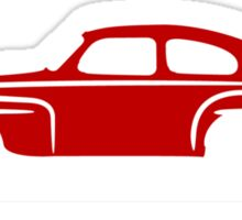 Volvo PV544 Red for Dark Shirts Sticker