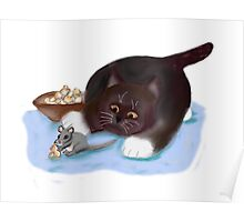 Popcorn Snack for Mouse and Kitten Poster