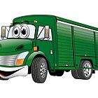 Green  Beverage Truck Cartoon by Graphxpro