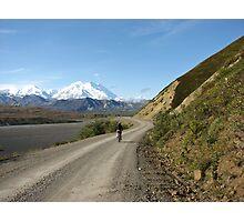 Mountain Biking Near Denali Photographic Print