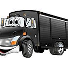 Black  Beverage Truck Cartoon by Graphxpro