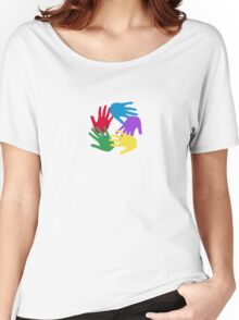 5 hands for 5 continents Women's Relaxed Fit T-Shirt