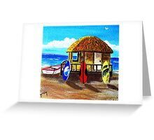Oko's Bros Surf Shack Greeting Card