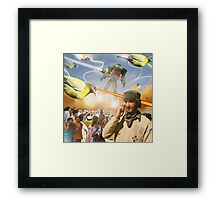 Over & Out, We Are Under Attack: Launch The Karachi Kickbots Framed Print