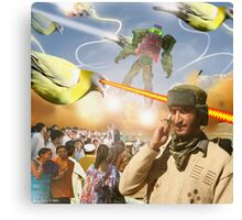 Over & Out, We Are Under Attack: Launch The Karachi Kickbots Canvas Print