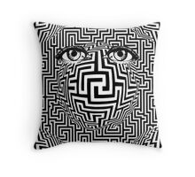 Distorted Vision Eyes Maze Throw Pillow
