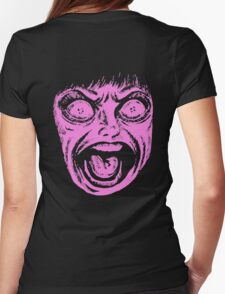 The Drifting Classroom - Pink Scream Womens Fitted T-Shirt