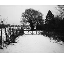 black & white Photographic Print