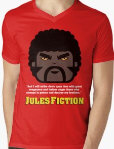 JULES FICTION V2 Mens V-Neck T-Shirt