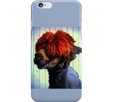 Odie the Alpaca, With a Spot of Color iPhone Case/Skin