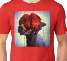 Odie the Alpaca, With a Spot of Color Unisex T-Shirt