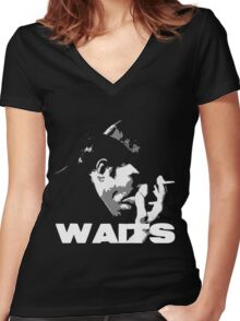 Tom Waits Women's Fitted V-Neck T-Shirt