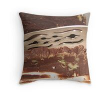 A thin slice of fudge Throw Pillow