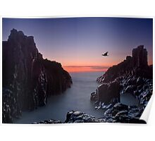 Early Morning at Bombo Rocks Poster