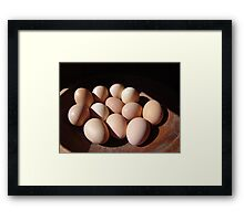 Fresh eggs Framed Print