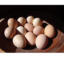 Fresh eggs Photographic Print