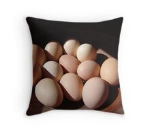 Fresh eggs Throw Pillow
