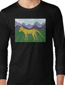Thylacine and Mountains Long Sleeve T-Shirt