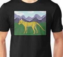 Thylacine and Mountains Unisex T-Shirt