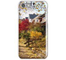 Urban Autumn Colorful Scene iPhone Case/Skin
