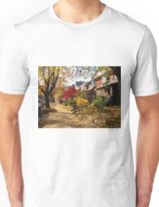 Urban Autumn Colorful Scene Unisex T-Shirt