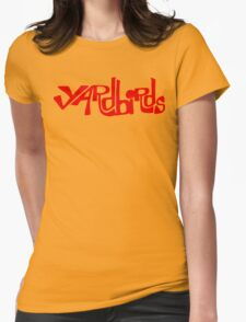 Yardbirds Eric Clapton Jimmy Page Jeff Beck Funny Geek Nerd Womens Fitted T-Shirt