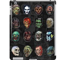Horror Movie Monster Masks (color) iPad Case/Skin