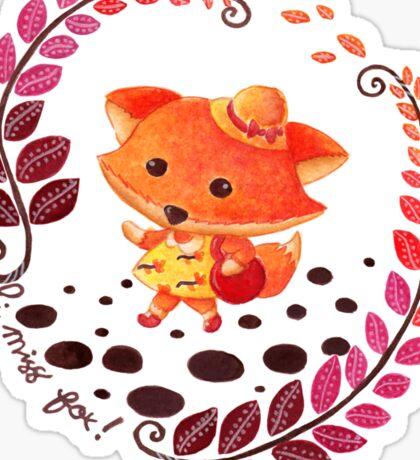 Hello, Miss Fox! Sticker