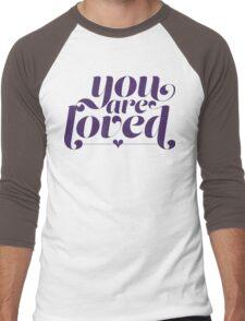 You Are Loved Funny Geek Nerd Men's Baseball ¾ T-Shirt