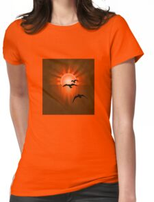 Towards the Light Womens Fitted T-Shirt