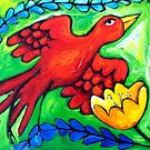LOVEBIRD  SWOOPS by ART PRINTS ONLINE         by artist SARA  CATENA