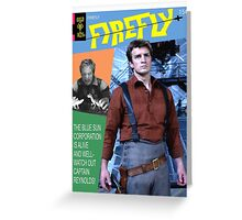 Firefly Vintage Comics Cover Greeting Card
