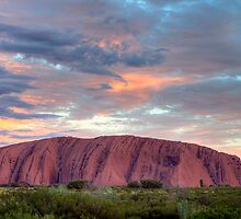 Post Sunset Uluru HDR by Steven Pearce