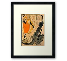 'Jane Avril' by Toulouse Latrec (Reproduction) Framed Print