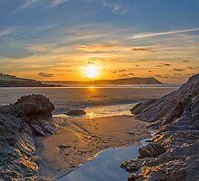 Polzeath Sunset by Chris Thaxter