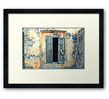 Window, Fort Moro, Old San Juan, Puerto Rico Framed Print